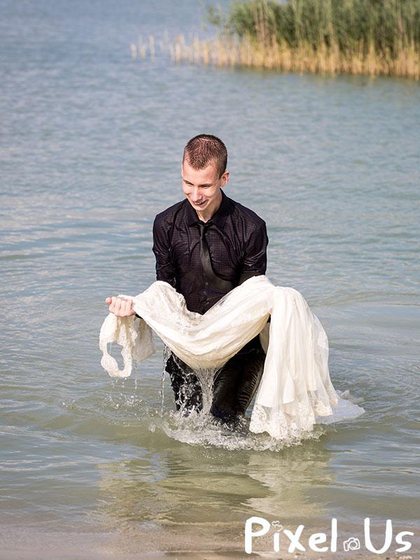 Trash the Dress and Suit, water, Drenthe, Groningen, Friesland, Overijssel