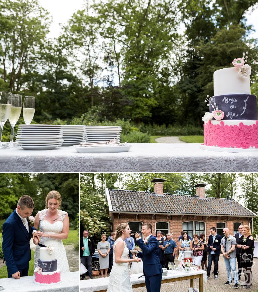 Wilma's Droomtaarten bruidstaart Allersmaborg